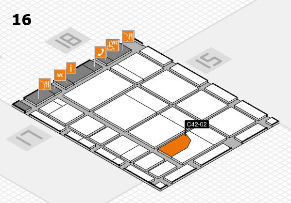 CARAVAN SALON 2017 hall map (Hall 16): stand C42-02