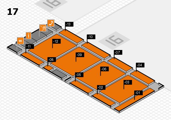 CARAVAN SALON 2017 Hallenplan (Halle 17): Stand -01, Stand -13