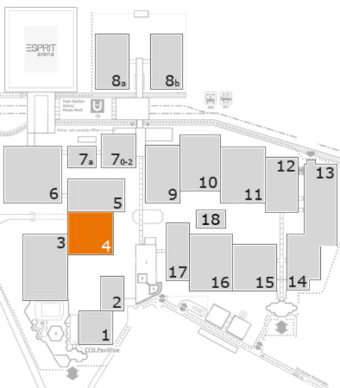 CARAVAN SALON 2016 fairground map: Hall 4