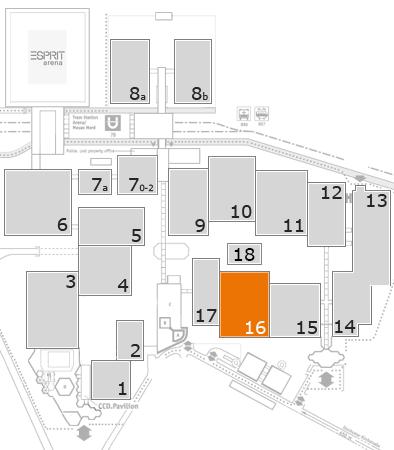 CARAVAN SALON 2017 Geländeplan: Halle 16