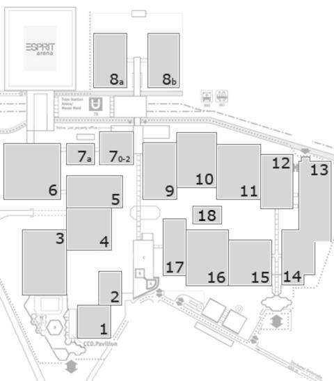 CARAVAN SALON 2016 Geländeplan: FG Halle 17