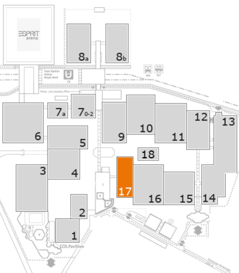CARAVAN SALON 2016 fairground map: Hall 17
