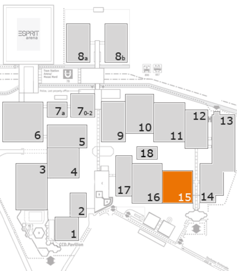 CARAVAN SALON 2016 fairground map: Hall 15