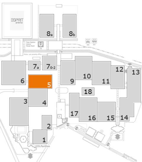 CARAVAN SALON 2016 fairground map: Hall 5