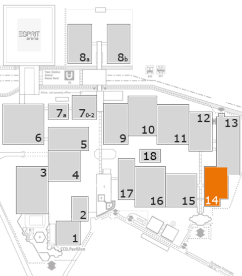 CARAVAN SALON 2016 fairground map: Hall 14