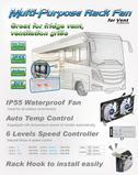 Kühlschrank-Doppellüfter TTC-SC22(B) IP55 120x25mm mit Abschaltautomatik