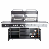 Aussenküche TOP LINE ALL'GRILL EXTREM Light BLACK mit Air System