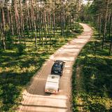 Kupler mini caravan on the way to the next adventure