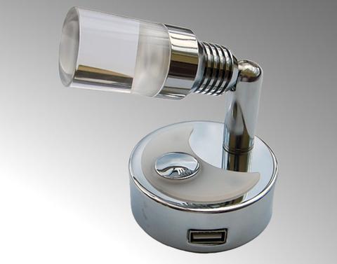 10-30V DC, 30°, 2,0W, 160 Lm, USB