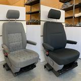 Vorher & Nachher mit dem DriveDressy extra robusten Schonbezug in Schwarz