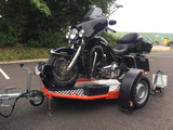 UNO Lowering and folding motorbike trailer