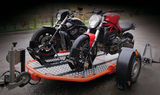 DUO Lowering and folding motorbike trailer