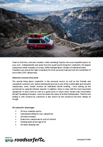 roadsurfer Company Profile