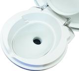 Toilette mit Porzellaneinsatz