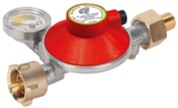 Maximum gas safety regulator with PRV, manual excess flow valve and manometer for gas leak test and gas level indication
