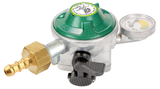 """Compact regulator PRV, Manual excess flow, 1/4"""" LH outlet, Manometer for gas leak test and gas level indication"""