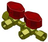 Double quick acting valve