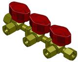 Triple quick acting valve