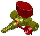 Quick acting valve with quick coupling