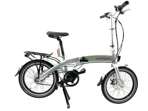 e-4motion elektrisches Faltrad Modell Nautica. Farbe: silber