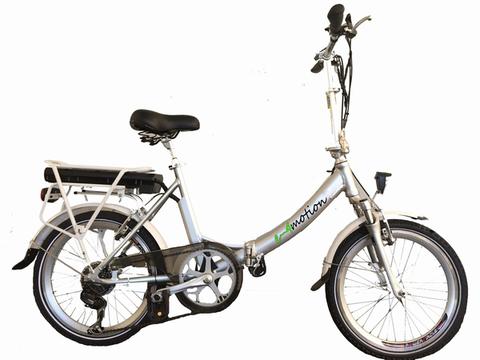 e-4motion Elektro-Klapprad Modell Maxi Plus. Farbe: Silber