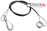 Breakaway rope 1000mm, black, with ring