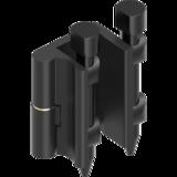 Hinges tool-free detachable with captive pin - 80° Hinge GD-Zn black powder-coated 1110-U83