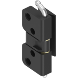 Hinges not visible for surface mounted door - 120° hinge GD-Zn black powder coated 1110-U86
