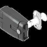 Adjustable hinges - Lock hinge with pressure relief Round cylinder different locking Polyamide GF black 1091-U199