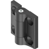 Torque hinges, friction - 180° Torque hinge with adjustment function up to 2 Nm GD-Zn black powder-coated 1056-U6-01