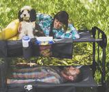 Disc-O-Bed XL anthrazit mit Hund