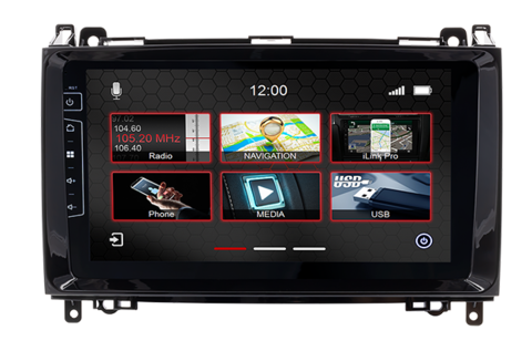 9-inch navigation device DIX-MB-DF427 Pro - C for Mercedes Sprinter from 2006 onwards