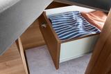 EuroCaravaning VANTourer 2022 600 L Schublade unter Bett