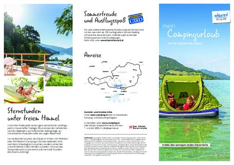 Camping Folder Kärnten 2021