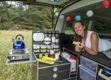 Campingbox L-CM für VW T6/5 Multivan + California Beach,mit orginal 3er Sitzbank