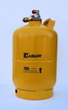 Gas bottle steel 6 Kg. Multiventil V-Set