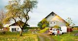 """Unser Van """"Kevin"""" auf einem Stellplatz bei einem Bauernhof"""
