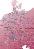 Fahrrad-Tourenkarte Radfernwege mit nur einer Karte erkunden